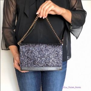 Kate Spade Glitter Cameron Crossbody Clutch/Bag